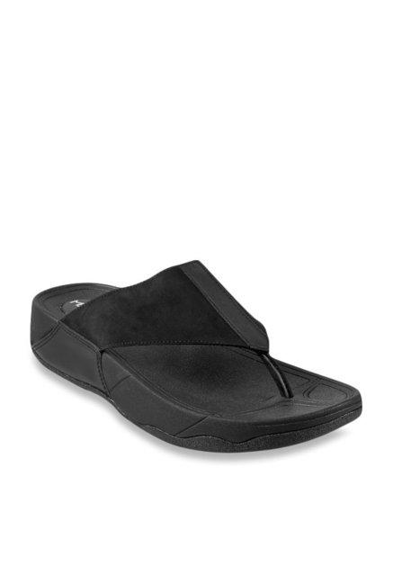 528ad6304 Buy Metro Black Thong Sandals for Men at Best Price   Tata CLiQ