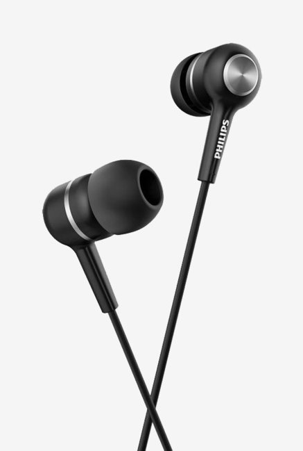 Philips SHE1505 In The Ear Headphone with Mic (Black)