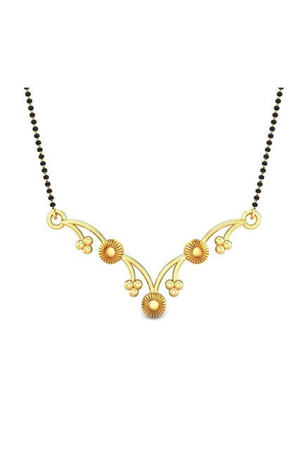 Buy Candere By Kalyan Jewellers Ezra 22kt Gold Pendant Online At