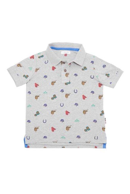 eb4637d05 Buy US Polo Grey Printed Polo T-Shirt for Boys Clothing Online @ Tata CLiQ