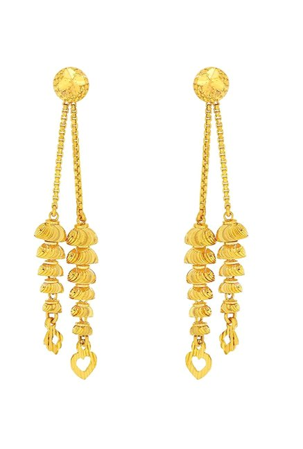 05133a733 Buy Candere by Kalyan Jewellers 22K Gold Earrings Online At Best Price @  Tata CLiQ