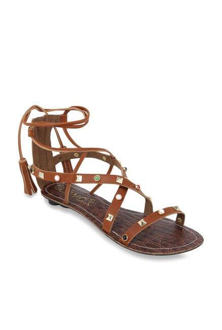 13e3ae9750e Buy Catwalk Tan Gladiator Sandals for Women at Best Price   Tata ...