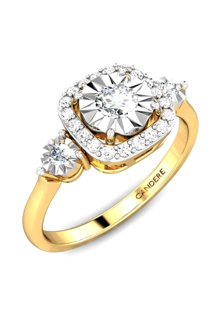 Buy Candere by Kalyan Jewellers 18k Gold 015 ct Diamond Ring
