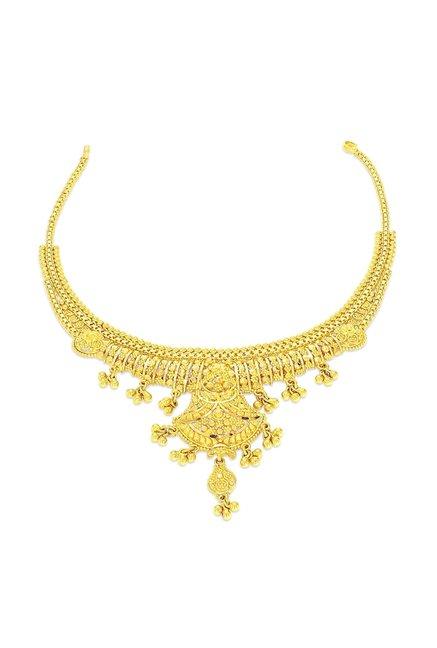 Buy Candere By Kalyan Jewellers Kanakia Nivara 22k Gold Necklace Online At Best Price Tata Cliq