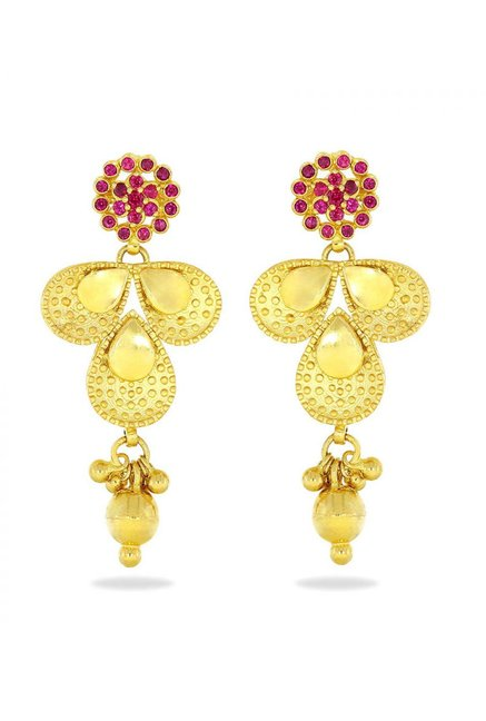 f1b30660a Buy Candere by Kalyan Jewellers 22K Gold Earrings Online At Best ...