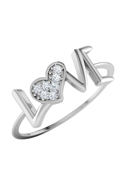 9f0673dc8 Buy CaratLane Alecia Love 18k Gold & 0.049 ct Diamond Ring Online At Best  Price @ Tata CLiQ