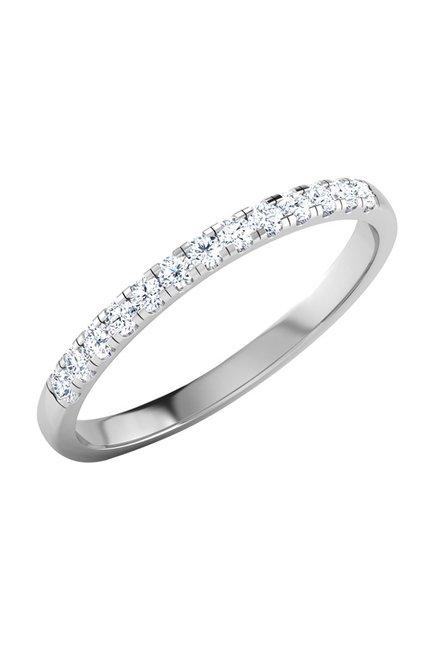 6bdec4364e3eb Buy CaratLane Fee Glitter 18k Gold & 0.117 ct Diamond Ring Online At Best  Price @ Tata CLiQ
