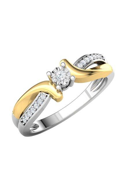 1b7abbc7bfb53 Buy CaratLane Detour Miracle 18k Gold & 0.052 ct Diamond Ring Online ...