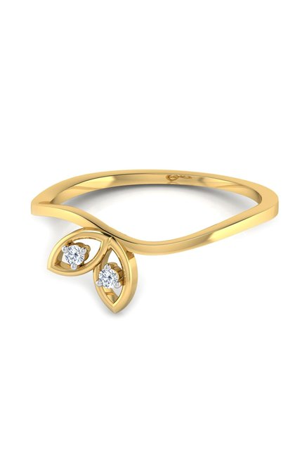 1a0d2cd1f Buy CaratLane Maisie 18k Gold & 0.02 ct Diamond Ring Online At Best ...