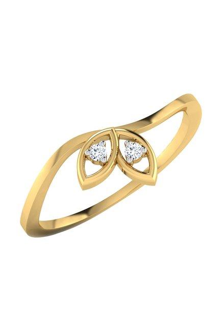 7f857bea1 Buy CaratLane Maisie 18k Gold & 0.02 ct Diamond Ring Online At Best Price @ Tata  CLiQ