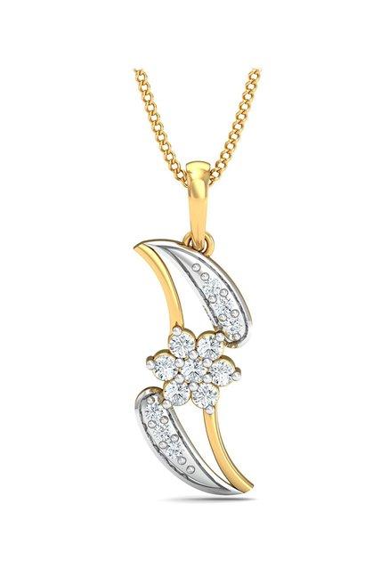 Buy P N Gadgil Jewellers 18k Gold & 0 1655 ct Diamond