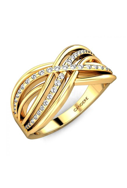 Buy Candere by Kalyan Jewellers Aadrika 22k Gold Ring Online