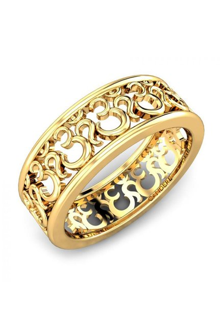 Buy Candere by Kalyan Jewellers Om 22k Gold Ring Online At