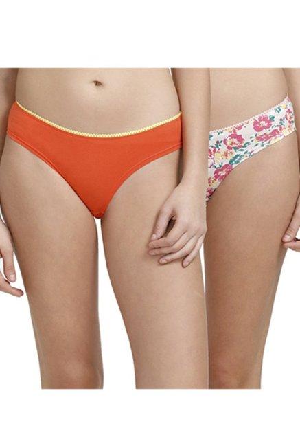 ad2c02ca216 Buy Zivame Orange   White Hipster Panties (Pack Of 2) for Women ...