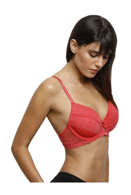 4baa284b83550 Buy Zivame Coral Under Wired Padded Push-Up Bra for Women Online ...