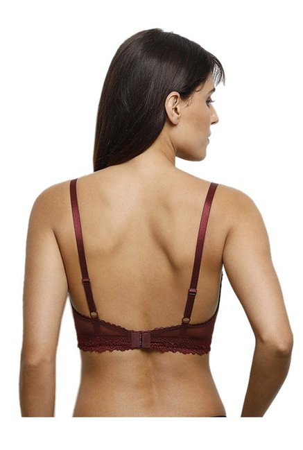 830fb3579 Buy Zivame Maroon Non Wired Non Padded T-Shirt Bra for Women Online ...