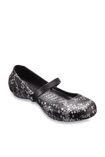 c8f4a57ce95b Buy Crocs Alice Black   Silver Mary Jane Shoes for Women at Best Price    Tata CLiQ