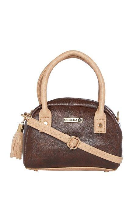 Esbeda Dark Brown Tassel Handbag
