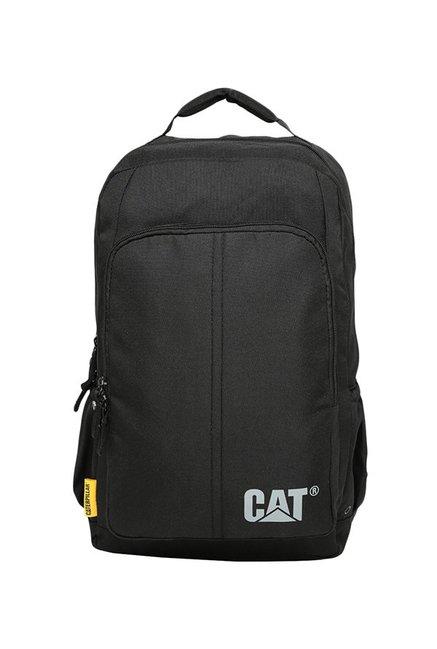 CAT Innovado Black Solid Polyester Laptop Backpack