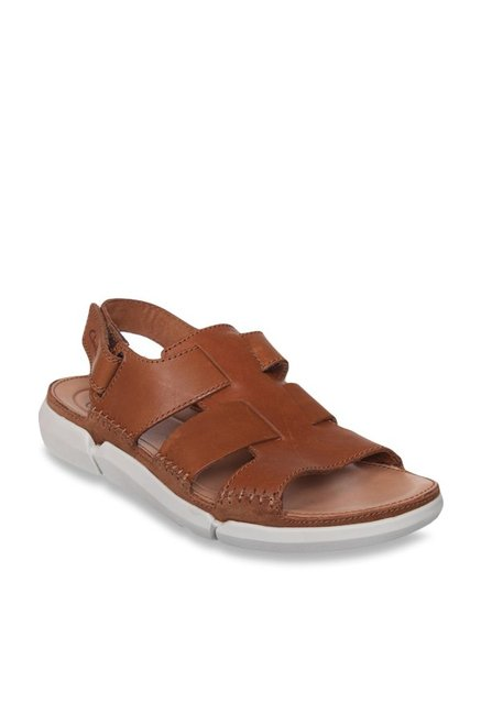 252d7dd1f Buy Clarks Trisand Bay Tan Back Strap Sandals for Men at Best Price ...