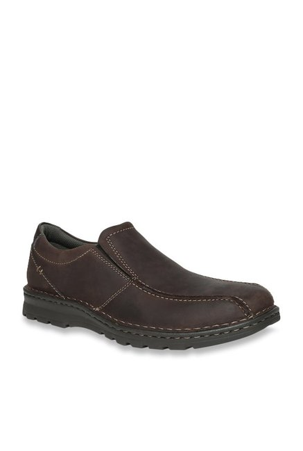 07b39dccb8 Buy Clarks Vanek Step Dark Brown Slip-Ons for Men at Best Price @ Tata CLiQ