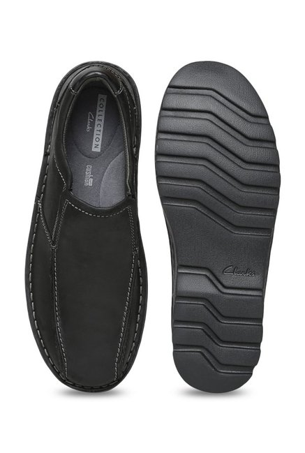 d18e4ae472 Buy Clarks Vanek Step Black Slip-Ons for Men at Best Price @ Tata CLiQ