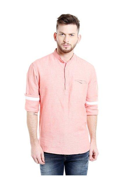 Buy Killer Red Textured Slim Fit Shirt for Men Online   Tata CLiQ daa9cfce3
