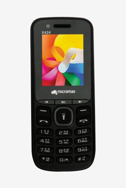 Micromax X424  Black  Dual SIM