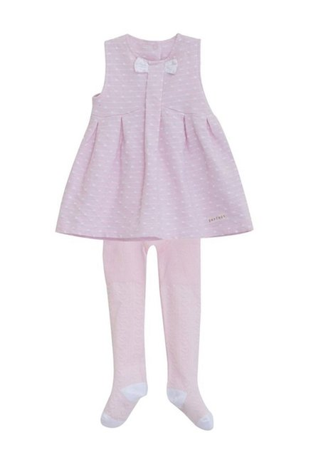 a010cbaa0 Buy MINIKLUB Pink Printed Dress With Tights for Infant Girls Clothing ...