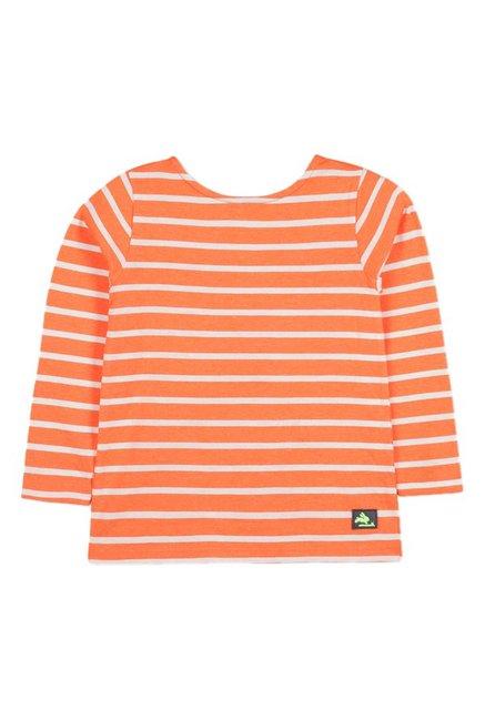 806359f0 Buy Cherry Crumble California Orange Striped T-Shirt for Boys Clothing  Online @ Tata CLiQ