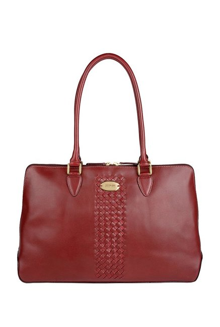 Hidesign Treccia 02 Reddish Brown Laptop Shoulder Bag