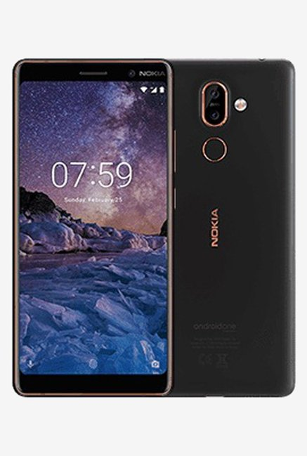 Nokia 7 Plus 64GB 4GB RAM Black Copper Mobile