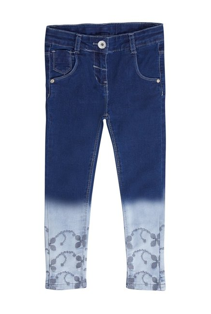 24c2890dea Buy Tales   Stories Blue Lightly Wash Jeans for Infant Girls Clothing ...