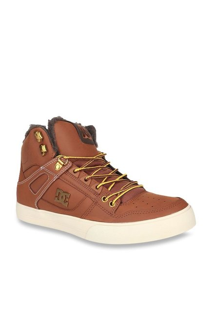 DC Spartan HI Burnt Henna Ankle High Sneakers