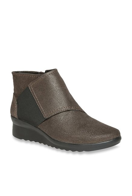 6293c3dbe48 Buy Clarks Caddell Rush Copper Wedge Booties for Women at Best ...
