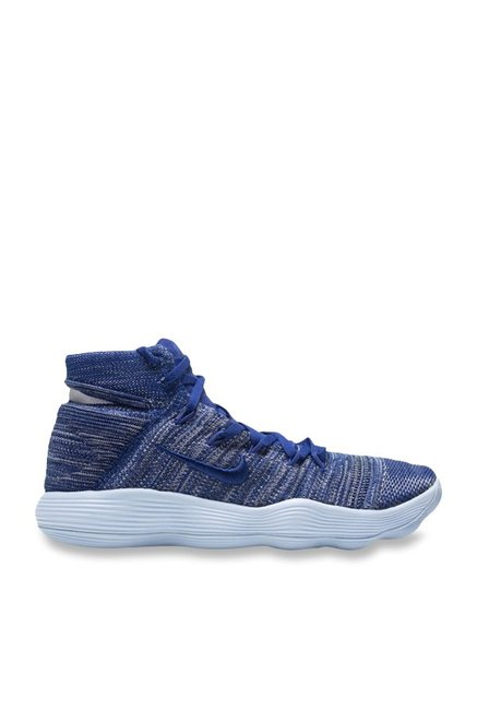 2dacd0fec32c Buy Nike Hyperdunk 2017 Flyknit Blue   White Basketball Shoes for Men at  Best Price   Tata CLiQ