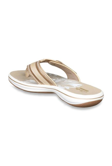 034c913ce Buy Clarks Brinkley Mila Golden Thong Sandals for Women at Best ...