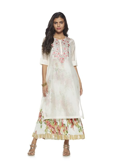 8a94cff6b Buy Vark by Westside White Floral Ethnic Maxi Dress Set for Women Online @ Tata  CLiQ