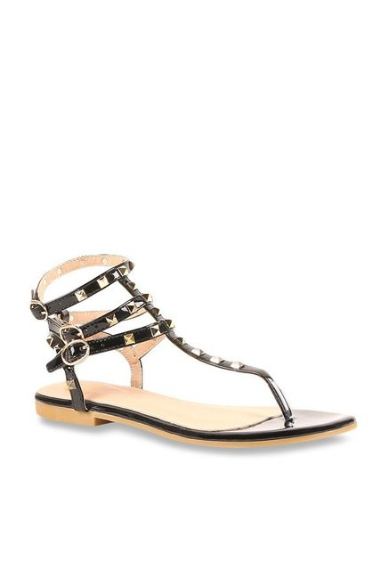 35263ad7a Buy Carlton London Black Gladiator Sandals for Women at Best Price   Tata  CLiQ