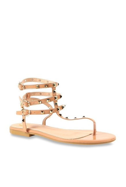 844cd69d2a97 Buy Carlton London Beige Gladiator Sandals for Women at Best Price ...
