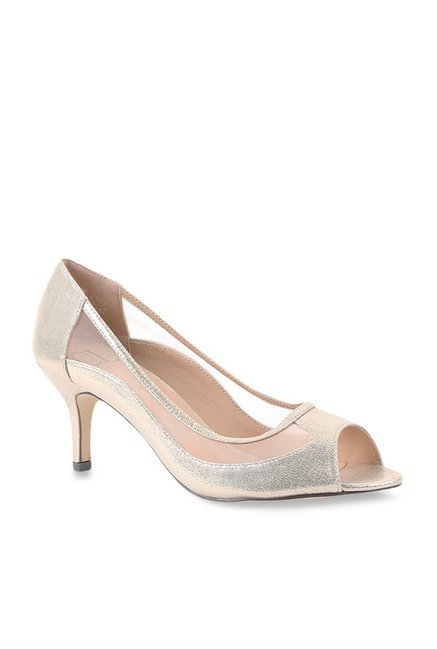 c078191607 Buy Carlton London Golden Peeptoe Stilettos for Women at Best Price ...