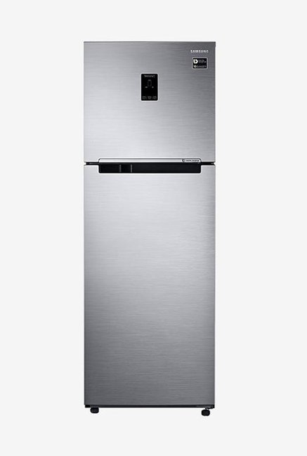 Samsung RT37M5538SL/HL 345 L 3 Star Frost Free Double Door Top Mount Inverter Refrigerator, Real Stainless