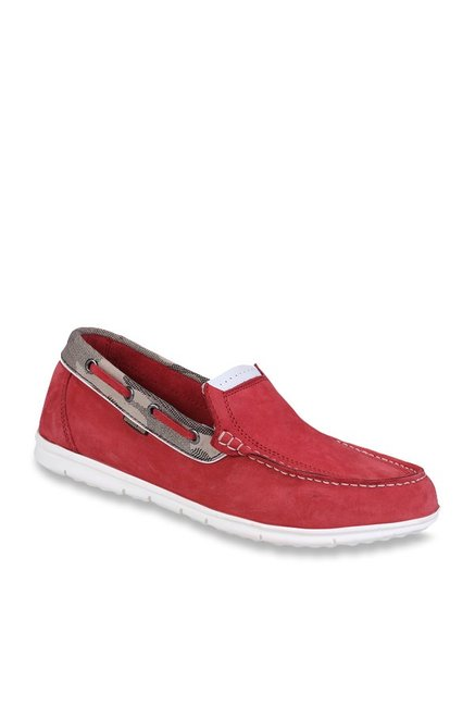 36a02b2ab25 Buy Woodland Fruit Red Boat Shoes for Men at Best Price @ Tata CLiQ