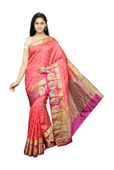 Pavecha's Pink Silk Bollywood Saree