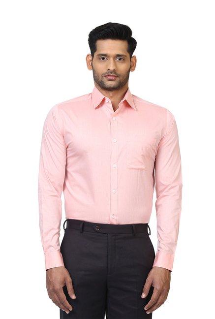 6b1b62bc829 Buy Raymond Light Pink Slim Fit Shirt for Men Online   Tata CLiQ