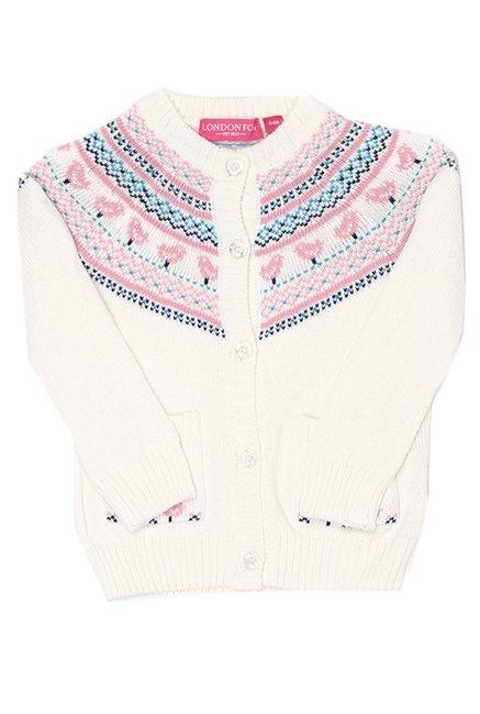 d0f78dac0 Buy London Fog White Full Sleeves Sweater for Infant Girls Clothing ...