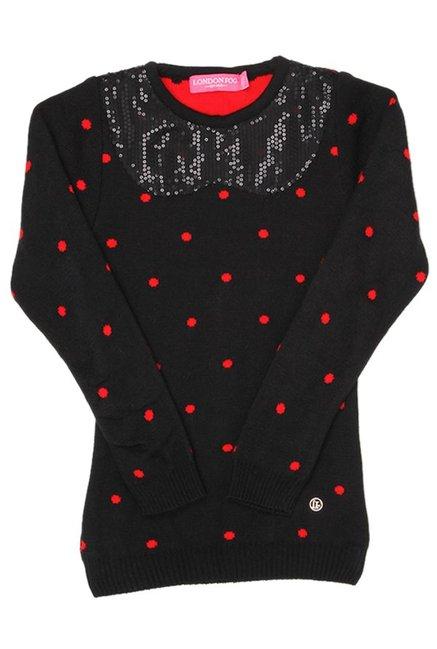85e770225 Buy London Fog Black Embellished Sweater for Girls Clothing Online ...