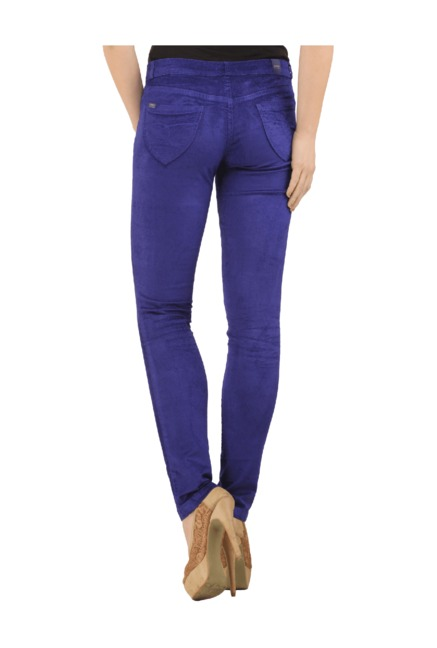 3292a60846689 Buy Xpose Sapphire Slim Fit Low Rise Trousers for Women Online ...