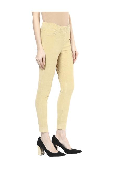 268e5ebd81e97 Buy Xpose Camel Corduroy Jeggings for Women Online @ Tata CLiQ