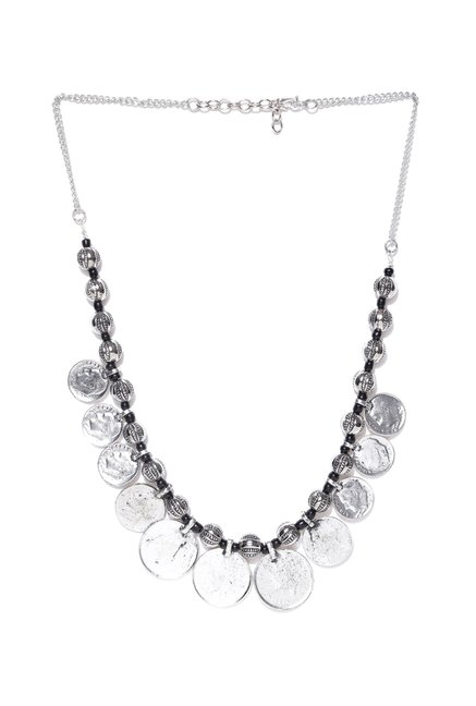 b2c1c9becf3e8a Buy Infuzze Silver Alloy Casual Necklace Online At Best Price @ Tata CLiQ